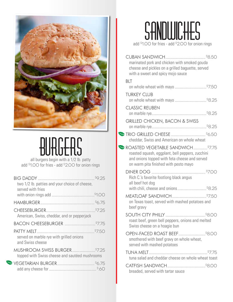 City Diner - Menus